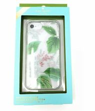 BNIB~Kate Spade Protective iPhone 8/7/6s/6 Case Green Leaf Flower Clear