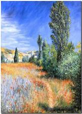 CLAUDE MONET ~ Landscape Saint Martin ~ *FRAMED* CANVAS ART Poster ~ 24x16""