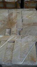 1 Pallet (120 Lm) of 100mm Light Coloured Sandstone Garden Edging / Capping
