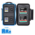 Water-resistant Memory Card Case Holder Storage fits 2 CF 4 SD 4 Micro SD Cards