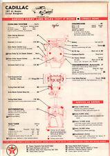 1957 1958 1959 1960 CADILLAC EX 1957 1958 BROUGHAM LUBRICATION TUNE-UP CHARTS CC