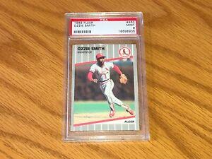 1989 Fleer #463 Ozzie Smith Cardinals HOF PSA 9 MINT