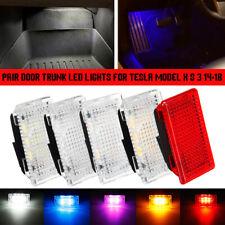 Car Door LED Trunk Boot Foot Well Glove Box Lights For TESLA MODEL S 3 X 14-18