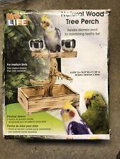 "New listing Penn Plax Bird Life Natural Wood Tree Perch 11"" High for Medium Birds"