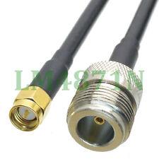 cable N female jack to SMA male plug straight crimp KSR195 3FT pigtail