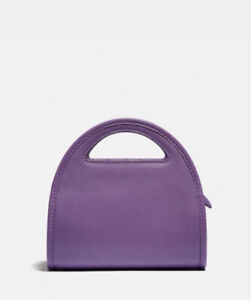 Coach Limited Edition Mini Half Moon Bag Style NO. 875 Bright Violet Leather