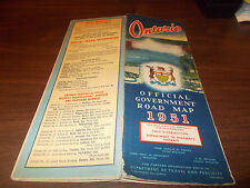1951 Ontario Province-issued Vintage Road Map
