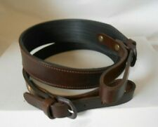 Genuine Leather Rifle Sling with Ribbed Rubber Backing. *Brown* made in England