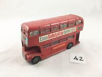VINTAGE DINKY TOYS # 289 LONDON TRANSPORT ROUTEMASTER BUS DOUBLE DECKER ESSO