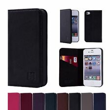 32nd Classic Genuine Real Leather Slim Wallet Case Cover for Apple iPhone Models