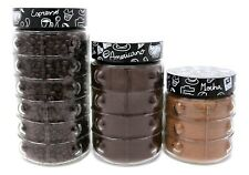 Glass Kitchen Containers - Glass 3 pc Set Storage Containers - Coffee Storage