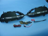 LED Daytime Running Light + Marquee System 2014-16 Mercedes W212 Blue Efficiency