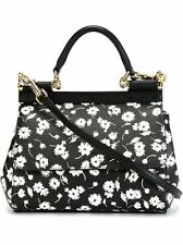 Dolce & Gabbana Black Flower Dauphine Sicily bag - Current Price 1479 at LYST