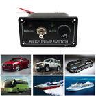 DC12V LED Indicator Bilge Pump Switch Panel Manual / Off / Auto for Boat Marine photo