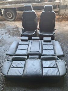 Audi A4 B6 B7 Saloon sline Full black Leather Seats with white piping