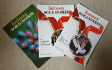 Collection of 3 Embassy snooker programmes - 1986/1991/1993