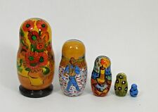 5pc.Russian Nesting Doll Paintings Vincent van Gogh #3640