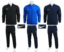 Nike Mens Full Tracksuit Zip Jacket Bottoms Pants Football Training Academy 1269 L Black