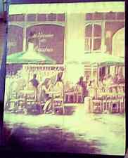 Leinwand Bild Cafee Bachus 50 x 40 cm Rarität Vintage Wand Deko Urlaub Paris