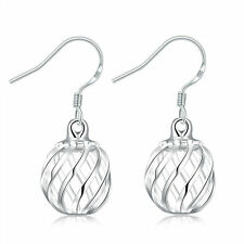 Cute New Silver Plated Twisted Hallow Ball Lantern Style Dangle Drop Earrings