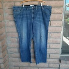 "Lee Premium Select Relaxed Straight Leg Blue Jeans Mens Size 52"" X 30"" Big Tall"