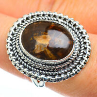 Petrified Wood 925 Sterling Silver Ring Size 8 Ana Co Jewelry R45496F