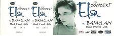 RARE / TICKET BILLET DE CONCERT LIVE - ELSA A PARIS BATACLAN 1997 / COMME NEUF