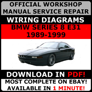 OFFICIAL WORKSHOP Service Repair MANUAL for BMW SERIES 8 E31 1989-1999