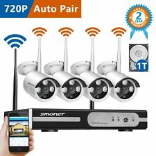 Outdoor Wireless 720p CCTV Security IP Camera Home Surveillance NVR System 1TB