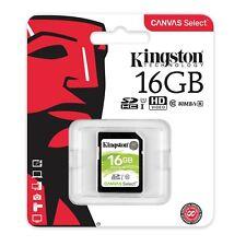Card memory Kingston Canvas Select SDHC 16GB UHS-1 U3 V30