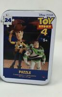 New Toy Story 4 24 Piece Jigsaw Puzzle in Collectible Tin Disney Pixar