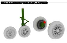 Eduard Brassin 1/48 Lockheed F-104 Starfighter Undercarriage Wheels Late # 64818