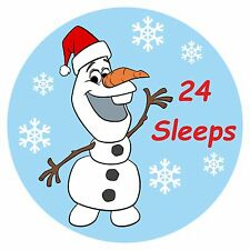 24 Countdown To Christmas Olaf Stickers, Ideal For Girls ot Boys Advents etc