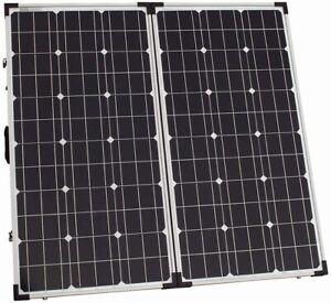 100W 12V folding solar charging kit for camper, caravan, boat etc. 12V system -