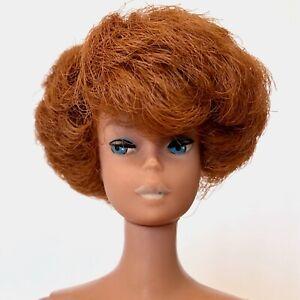 Vintage 1960s Barbie Doll BUBBLECUT 850 Redhead Titian Bubble Cut White Lips