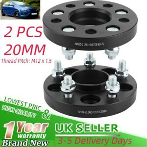 Wheel Spacer Adapter Flange 20mm 5x108mm for FORD FOCUS ST 225 ST225