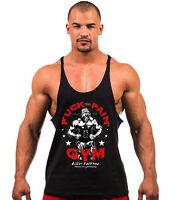 Mens Stringer Bodybuilding Tank Top Gym Fitness Singlet Sleeveless Muscle Vest