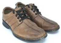 Clarks Touareg Vibe Oxford Men's Sz 10 W Brown Leather Bicycle Toe Lace Up Shoes