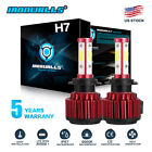 H7 2600W 390000LM 4-Sides LED Headlight Kit High or Low Light Bulb 6000K Car