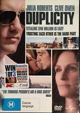 Duplicity (DVD, 2009)  Julia Roberts  Clive Owen  BRAND NEW