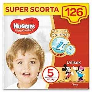 Huggies Pannolini Ultra Comfort Taglia 5 11-25 Kg Confezione da 126 Pannolini...