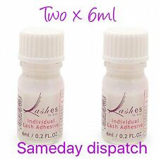 Hive Of Beauty Professional Clear Eyelash Glue Adhesive - 6ml x 2