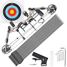 Pro Compound Right Hand Bow Kit Arrow Archery Target Hunting Camo Set 20-70lbs