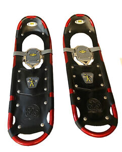 "Atlas Snow Shoe Model 825 Pair of Snowshoes Red 25"" No Bindings Platforms Only"