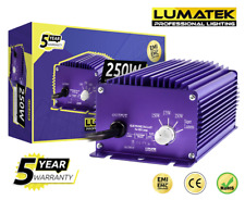 Lumatek Dimmable 250w Digital Ballast 240v Grow Light Hydroponics Lamp HPS MH