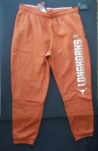 Nike Texas Longhorns Therma Dri Fit Athletic Burnt Orange Pants Men's 2XL