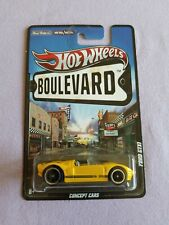 2012 Hot Wheels Boulevard FORD GTX1 Yellow EXCELLENT CARD