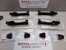 Toyota Tacoma 16-17 Double Cab Black Painted Door Handles Genuine w/ Smart Entry