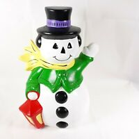 Snowman Vintage Creepy Face Ceramic Christmas Decor