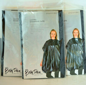 Betty Dain Cape  Lustre Shampoo Cape - Black - Style 311 - 3 pack